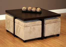 Trends Coffee Table With Ottomans Underneath