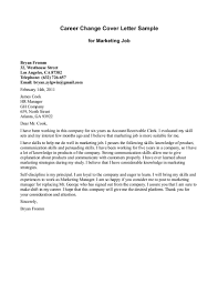 Resume Cover Letters for Career Change