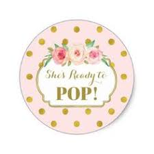 Pink Gold Dots Shes Ready To Pop Favor Tags