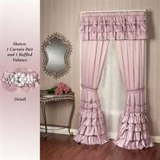 Purple Waterfall Ruffle Curtains by Elegant Curtains Touch Of Class