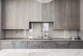 Kitchen Sink Drama Features by Contemporary Kitchen Features Gray Stained Cabinets Paired With