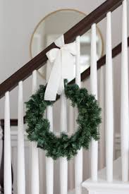 How To Hang Banister Wreaths & Video - A Thoughtful Place Remodelaholic Stair Banister Renovation Using Existing Newel Model Staircase 34 Unique Images Ideas Design Amazoncom Cardinal Gates Shield 5 Roll Clear Baby Gate For Stairs With Diy Best For And Spindles Flat Or Gloss New 40 Gorgeous Christmas Decorating Large Home Decorations Insight The Is Painted Chris Loves Julia 15 Ft Child Safety Indoor Guardks How To Update A Less Than 50 Marlowe Lane Installing Without Drilling Into Insourcelife