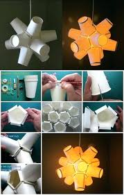 Paper Craft Step By How To Make Cup Lamp Video Tutorial Folding