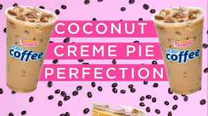 Pumpkin Iced Coffee Dunkin Donuts 2017 by How To Make Dunkin Donuts Coconut Creme Pie Iced Coffee Youtube