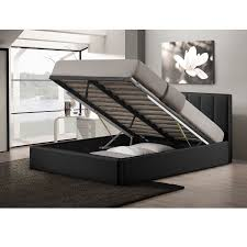 King Platform Bed With Leather Headboard by Bed Frames Wallpaper Hi Res King Platform Bed With Storage Metal