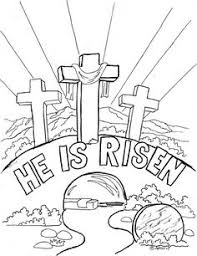 Christ Is Risen Coloring Pages