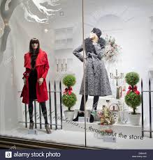 Christmas Shop Window Display Of Womens Fashion At Fenwicks