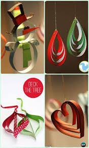 DIY Easy Stapled Paper Ornament Instruction Christmas Tree Craft Ideas