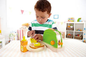 hape playfully delicious pop up toaster wooden play kitchen