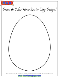 Easter Egg Template Cut Out Coloring Page