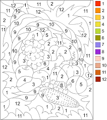 Thanksgiving Coloring By Number Pages Printable Color