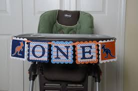 100 Kangaroo High Chair Chair Banner ONE Chair Banner 1st Birthday 1st