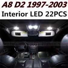 Cheetah 22pcs Free Shipping Error Auto LED Bulbs Car Interior Light Kit Reading Lamps For Audi A8 D2 Accessories 1997 2003