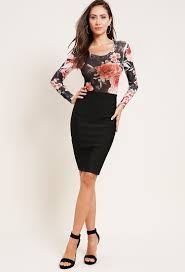 stretch pencil skirt shop new and now at papaya clothing