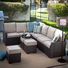 Walmart Patio Cushions And Umbrellas by Exterior Beige Cape May Wicker With Beige Cushions And Whtie