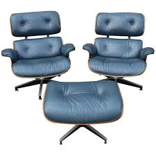 Rare Navy Blue Herman Miller Eames Lounge Chair Set ... Eames Lounge Chair Ottoman In Mohair Supreme Charles Ray Eames Ea124 Ea 125 For Herman Miller Miller Lounge Chair And Ottoman White Ash Mohair Supreme Alinum Group Outdoor 670 Rosewood By Alinium Yellow Leather With Classic 1970s Soft Pad Chairs Details About Holy Grail 1956 W Swivel Boots 3 Hole Striad Fourstar Base From
