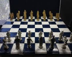 Handmade Pewter Chess Set