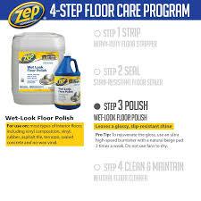 zep 128 oz wet look floor polish zuwlff128 the home depot