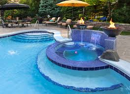 pool tile ideas pool traditional with blue mosaic tile pool seat