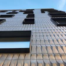 100 Sky House Nyc FAD Market Brass Tiles Glass And The Blue Sky Taking In The