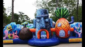 Toddler Kids Spongebob Bouncy Castles | Sky High Party Rentals