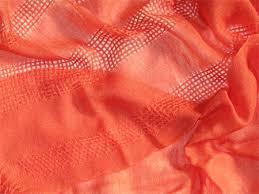 Handwoven Orange Cashmere Silk Scarves