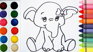 Como Dibujar Y Colorear Un Elefante De Arcoiris Dibujos Para Niños