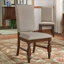 Grey Upholstered Dining Chairs With Nailheads by Amazon Com Flatiron Nailhead Upholstered Dining Chairs Set Of 2