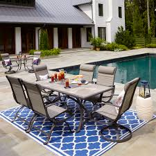 Sutton Rowe Fillmore 7pc. Sling Dining Set Glass Top Alinum Frame 5 Pc Patio Ding Set Caravana Fniture Outdoor Fniture Refishing Houston Powder Coaters Bistro Beautiful And Durable Hungonucom Cbm Heaven Collection Cast 5piece Outdoor Bar Rattan Pnic Table Sets By All Things Pvc Wicker Tables Best Choice Products 7piece Of By Walmart Outdoor Fniture 12 Affordable Patio Ding Sets To Buy Now 3piece Black Metal With Terra Cotta Tiles Paros Lounge Luxury Garden Kettler Official Site Mainstays Alexandra Square Walmartcom The Materials For Where You Live