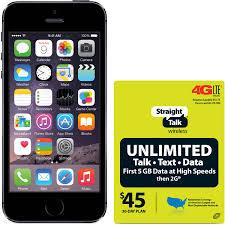 Straight Talk Apple iPhone 5S 16GB 4G LTE AT&T Refurbished Prepaid