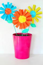 Easy Paper Flowers Kid Craft