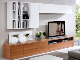 White Wall Units Home Furnishings Ideas Low Walnut TV Unit With 2 Cabinets And