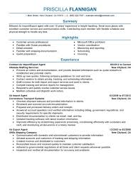 Front Desk Agent Resume Template by Best Air Import Export Agent Resume Example Livecareer