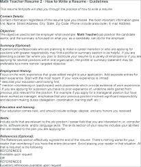 Resume Objectives For Teaching Objective Teacher