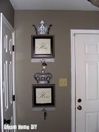 Impressive Design His And Hers Bedroom Decor My Same Crowns From Hobby Lobby Might Try This