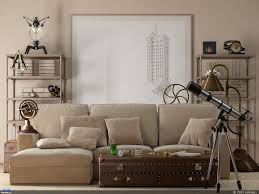 Brown Couch Living Room Design by Contemporary Living Room Using Neutral Color In The Walls And Red