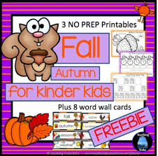 Fall Activities Math And Language Freebies