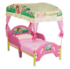 delta children dora the explorer toddler bed with canopy