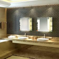 Mid Century Modern Bathroom Vanity Light by Bathroom Mirror Cabinet W Led Lights U0026 Adjustable Shelves