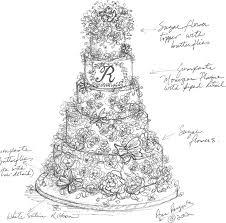 Martin Wedding Cake Sketch