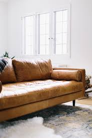 Brown Leather Sofa Decorating Living Room Ideas by Simple Modern Brown Leather Sofa Interior Design Ideas Classy