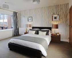 Gray Beige Wallpaper Bedroom