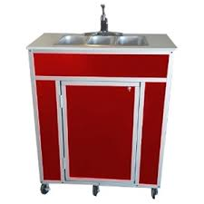 monsam nsf certified three basin portable self contained sink ns