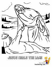 Jesus Heals The Lame Bible Learning For Kids At YesColoring Coloring Pages Printable