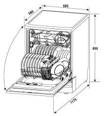 Euro Valencia 60cm Dishwasher Specifications