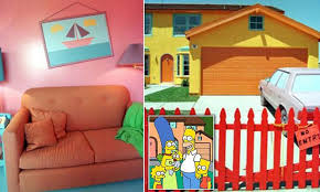 100 Simpsons House Plan Duff Beers A Saggy Couch And VERY Colorful Walls Inside