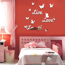 JZ Live Laugh Love Quote Removable Wall Stickers Mirror Decal DIY Room Decor