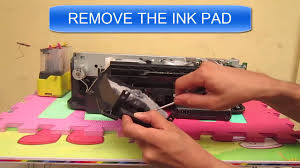 epson t13 replacing inkpad cleaning ink pad solved youtube