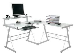 Tempered Glass Computer Desk by Attractive Glass Computer Desk Corner Computer Desk Black Metal