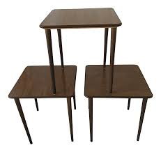 Mid-Century Modern Walnut Stacking Tables - Set Of 3 Chairs And Tables The Home Of Truth Stack On Table Clipart Free Clip Art Images 21722 Kee Square Chrome Breakroom 4 Restaurant The 50 From Restoration Hdware New York Times Kobe 72w X 24d Flip Top Laminate Mobile Traing With 2 M Cherry Finish And Burgundy Lifetime 5piece Blue White Childrens Chair Set 80553 Lanzavecchia Wai Collection Includes Hamburger Tables Starsky Stack Table Rattan Of 3 45 Round Adjustable Plastic Activity School
